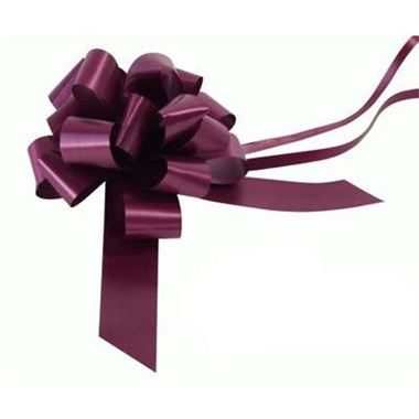 Ribbon Pull Bows Aubergine - 30mm