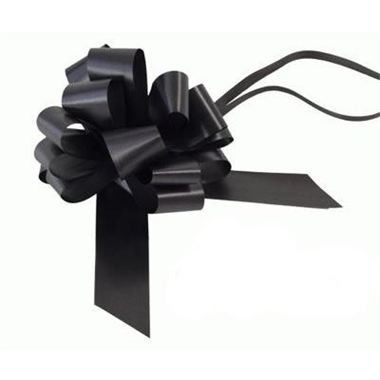 Ribbon Pull Bows Black - 30mm