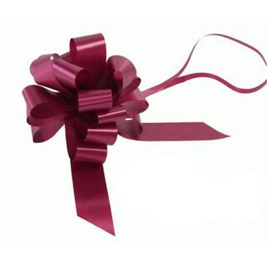 Ribbon Pull Bows Burgundy - 30mm