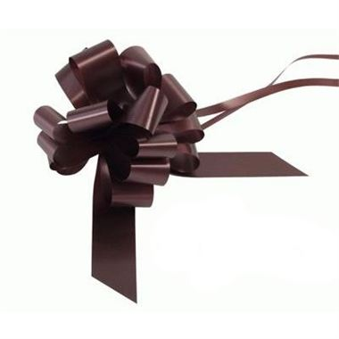 Ribbon Pull Bows Chocolate - 30mm