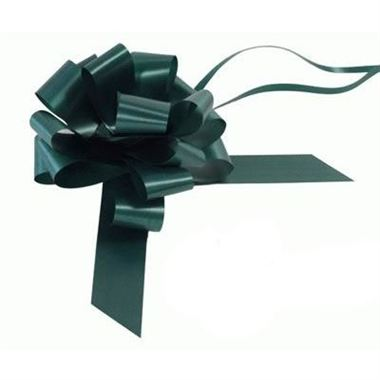 Ribbon Pull Bows Green - 30mm