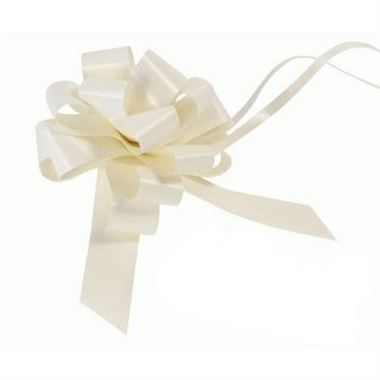 Ribbon Pull Bows Ivory - 30mm