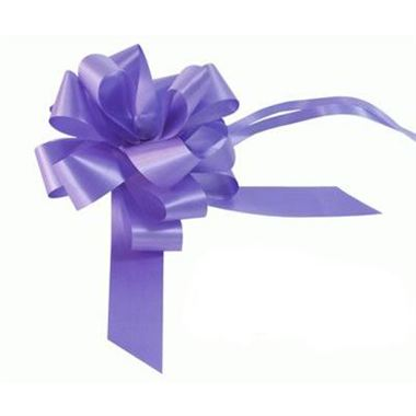Ribbon Pull Bows Lavender - 30mm