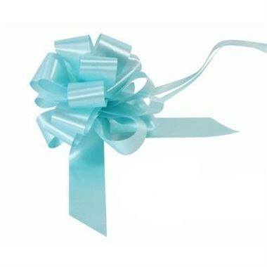 Ribbon Pull Bows Light Blue - 30mm