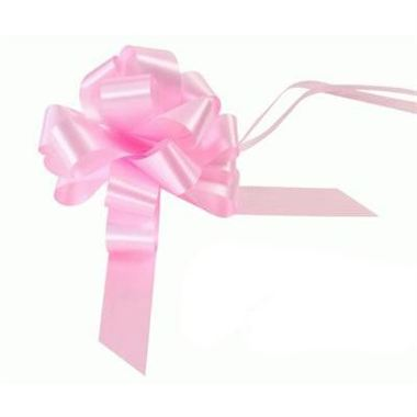 Ribbon Pull Bows Light Pink - 30mm