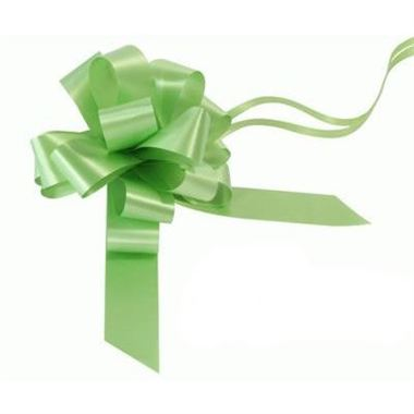 Ribbon Pull Bows Lime Green - 30mm