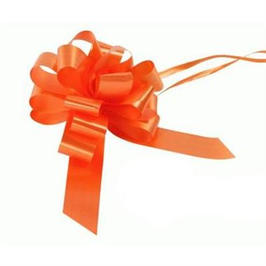 Ribbon Pull Bows Orange - 30mm