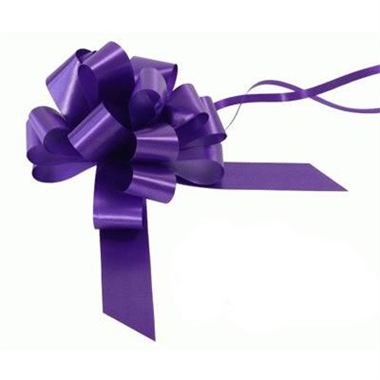 Ribbon Pull Bows Purple - 30mm