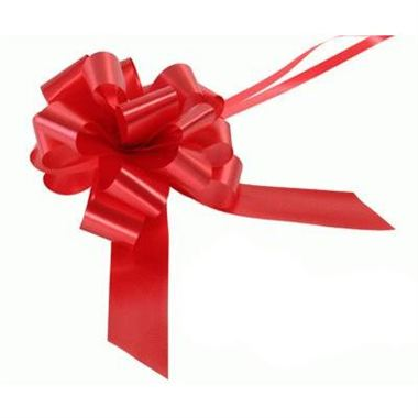 Ribbon Pull Bows Red - 30mm