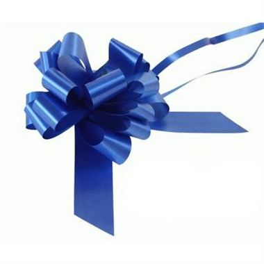 Ribbon Pull Bows Royal Blue - 30mm