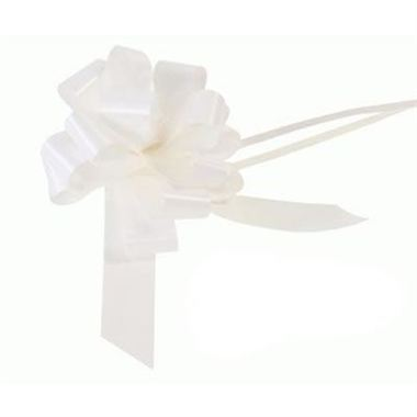 Ribbon Pull Bows White - 30mm