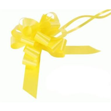 Ribbon Pull Bows Yellow - 30mm