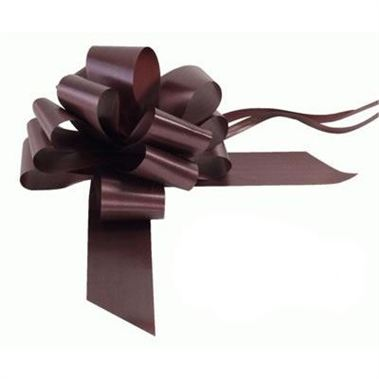 Ribbon Pull Bows Chocolate - 50mm