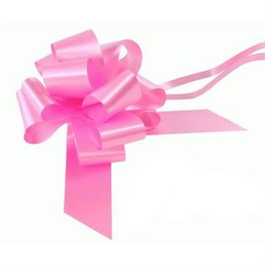 Ribbon Pull Bows Classic Pink - 50mm