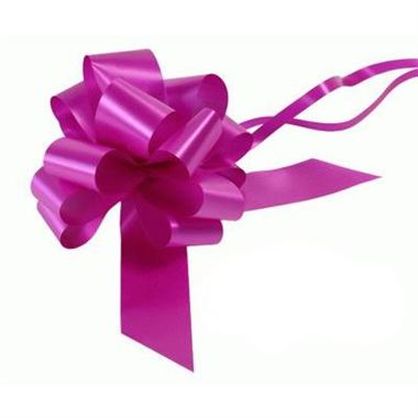 Ribbon Pull Bows Fucshia - 50mm