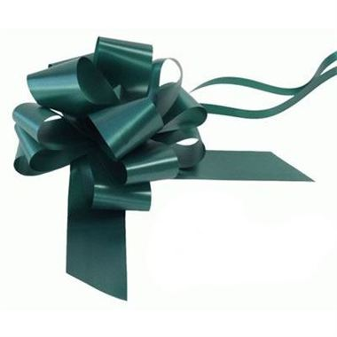 Ribbon Pull Bows Green - 50mm