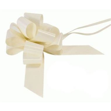 Ribbon Pull Bows Ivory - 50mm
