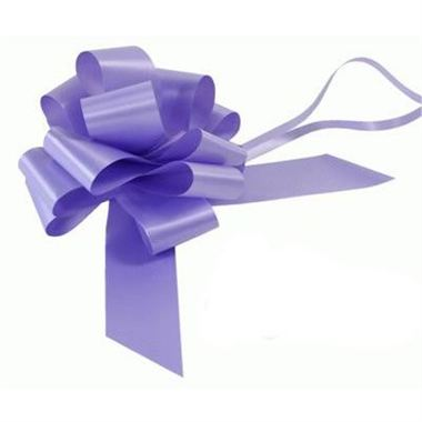 Ribbon Pull Bows Lavender - 50mm