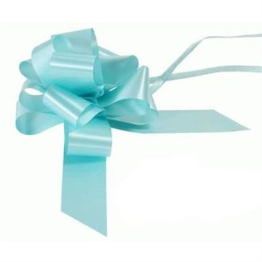Ribbon Pull Bows Light Blue - 50mm
