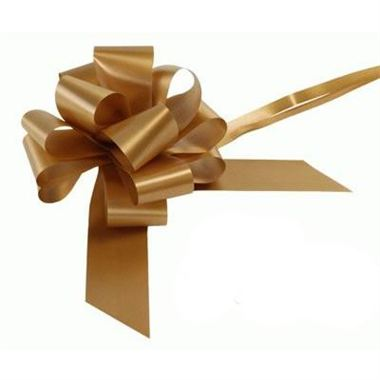 Ribbon Pull Bows Matt Gold - 50mm