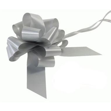 Ribbon Pull Bows Matt Silver - 50mm