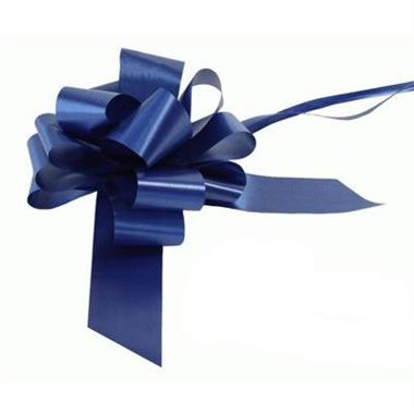Ribbon Pull Bows Navy Blue - 50mm