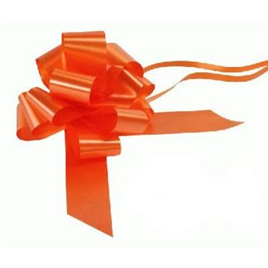 Ribbon Pull Bows Orange - 50mm