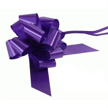 Ribbon Pull Bows Purple - 50mm