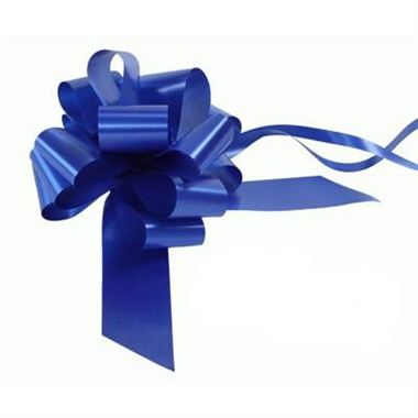 Ribbon Pull Bows Royal Blue - 50mm