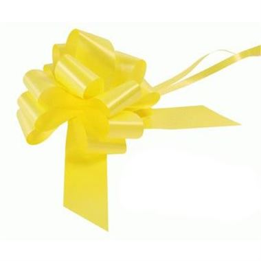 Ribbon Pull Bows Yellow - 50mm