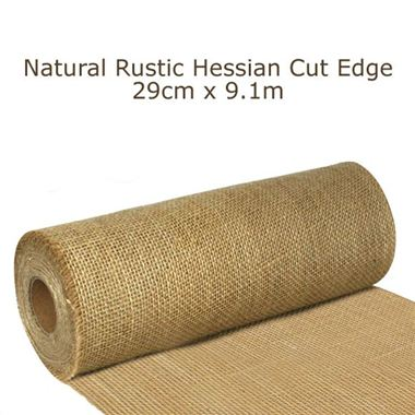Ribbon Hessian Rustic Roll 29cm x 9.1m