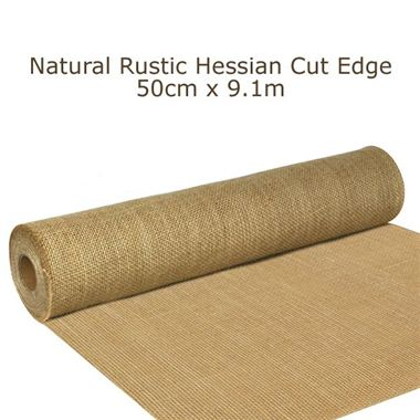 Ribbon Hessian Rustic Roll 50cm x 9.1m