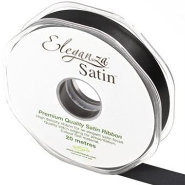 Ribbon Satin Black - 15mm