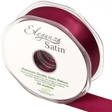 Ribbon Satin Burgundy - 25mm