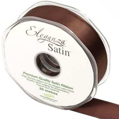 Ribbon Satin Chocolate - 25mm