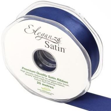Satin Ribbon 25mm - Midnight Blue