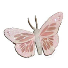 Butterflies Pink Feather 2.75""