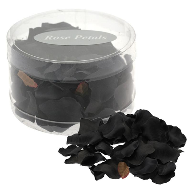 Silk Rose Petals - Black