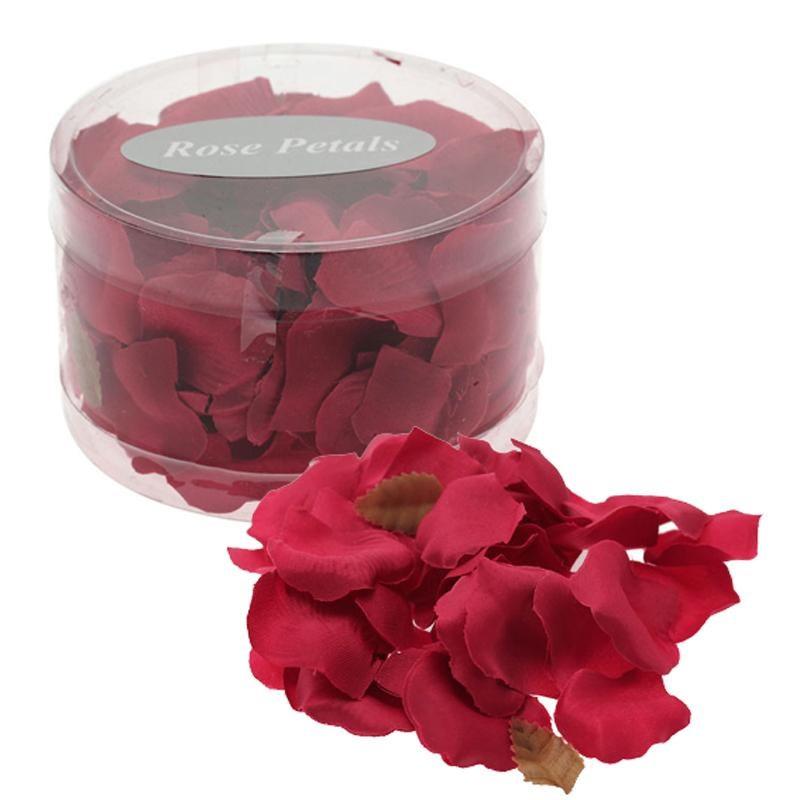 silk rose petals hot pink