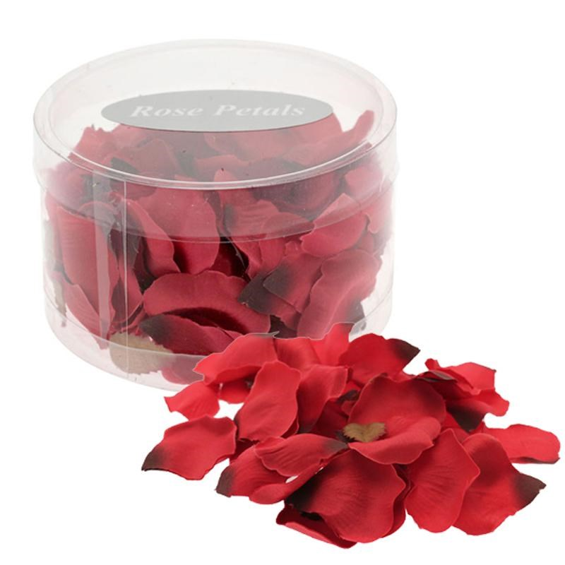 Silk Rose Petals - Red