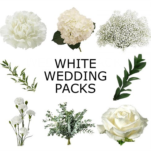 Wedding Flower Packs - White