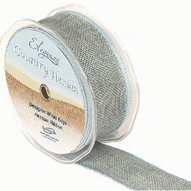 Ribbon Hessian Light Blue - 38mm