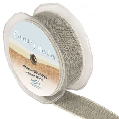 Ribbon Hessian Grey - 38mm