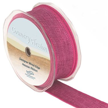 Ribbon Hessian Fuchsia - 38mm