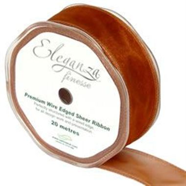 Ribbon Organza Copper - 32mm