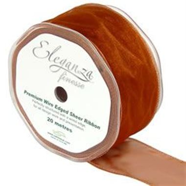 Ribbon Organza Copper - 50mm