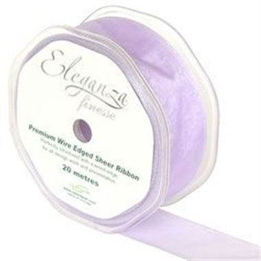 Ribbon Organza Lavender - 32mm