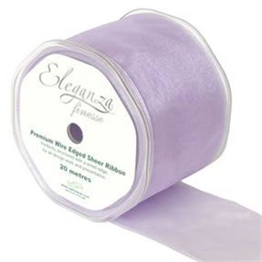 Ribbon Organza Lavender - 70mm