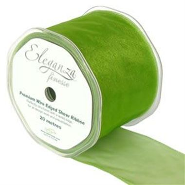 Ribbon Organza Pistachio Green - 70mm