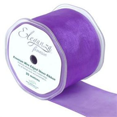 Ribbon Organza Purple - 70mm